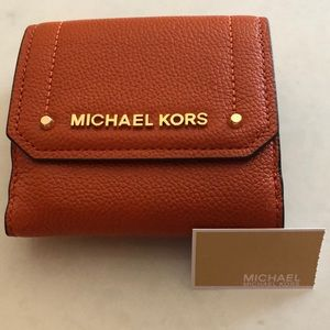 NWT Michael Kors Hayes Trifold Coin Case/Wallet